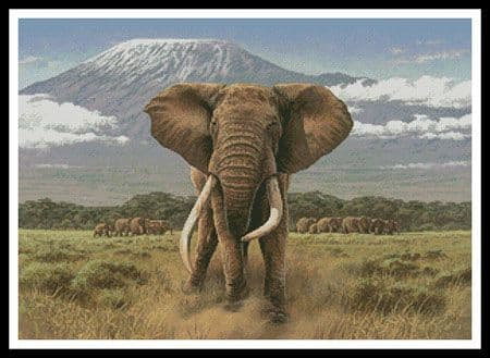 African Giants by Artecy printed cross stitch chart